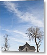 Abandoned House In Field Metal Print by Dave & Les Jacobs