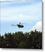 Alouette II Of The Belgian Army Metal Print by Luc De Jaeger