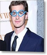 Andrew Garfield At Arrivals For The Metal Print by Everett