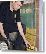 Asbestos Monitoring Metal Print by Paul Rapson