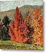 Autumn Landscape Metal Print by Henri-Edmond Cross