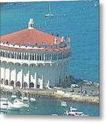 Avalon Casino Metal Print by Paula Greenlee