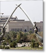 Baghdad, Iraq - Hands Of Victory Metal Print by Terry Moore