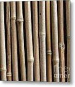 Bamboo Fence Metal Print by Yali Shi