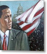 Barack Obama Metal Print by Howard Stroman