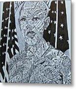 Barack Obama Metal Print by Lourents Oybur