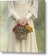 Basket With Flowers Metal Print by Joana Kruse