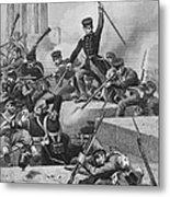 Battle Of Chapultepec, 1847 Metal Print by Granger