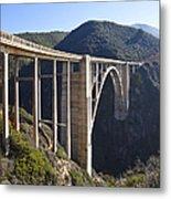 Bixby Bridge Crossing A Chasm Metal Print by David Buffington