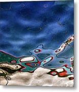 Boat Reflexion Metal Print by Stelios Kleanthous