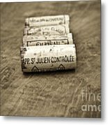 Bordeaux Wine Corks Metal Print by Frank Tschakert