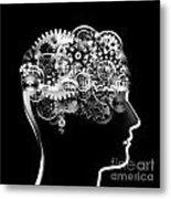 Brain Design By Cogs And Gears Metal Print by Setsiri Silapasuwanchai
