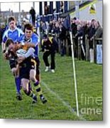 Bridlington Rufc V North Ribblesdale Rufc Metal Print by David  Hollingworth