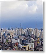 Buildings Of Downtown Sao Paulo Metal Print by Jeremy Woodhouse