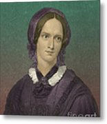 Charlotte Bronte, English Author Metal Print by Photo Researchers