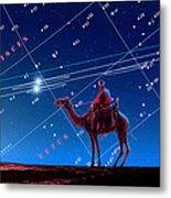 Christmas Star As Planetary Conjunction Metal Print by Detlev Van Ravenswaay