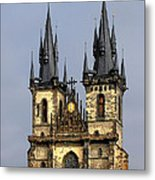 Church Of Our Lady Before Tyn - Prague Cz Metal Print by Christine Till
