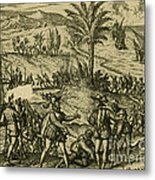 Columbus Arrested Metal Print by Photo Researchers