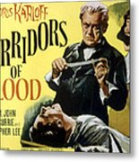 Corridors Of Blood, Boris Karloff, 1958 Metal Print by Everett