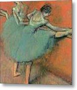 Dancers At The Bar Metal Print by Edgar Degas