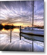 December Sunrise Metal Print by Vicki Jauron