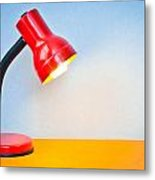 Desk Lamp Metal Print by Tom Gowanlock