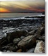 Dramatic Coastline Metal Print by Carlos Caetano