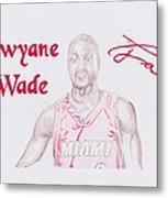 Dwyane Wade Metal Print by Toni Jaso