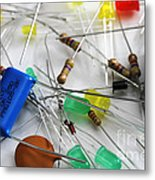 Electronic Components Metal Print by Photo Researchers, Inc.
