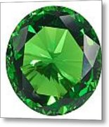 Emerald Isolated Metal Print by Atiketta Sangasaeng
