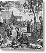 Emigrants: Arkansas, 1874 Metal Print by Granger