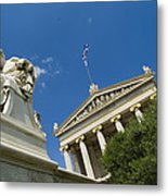 Exterior Of The Athens Academy, Greece Metal Print by Richard Nowitz