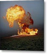 Fireball From Liquid Petroleum Gas Explosion Metal Print by Crown Copyrighthealth & Safety Laboratory