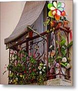 Flowery Balcony Metal Print by Carlos Caetano
