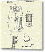 Football Pants 1917 Patent Art Metal Print by Prior Art Design