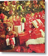 Gifts Under The Tree For Christmas Metal Print by Sandra Cunningham