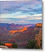 Grand Canyon Grand Sky Metal Print by Heidi Smith