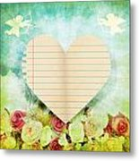 greeting card Valentine day Metal Print by Setsiri Silapasuwanchai