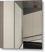 Hallway Of An Office Building Metal Print by Will & Deni McIntyre