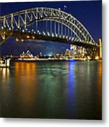 Harbour Lights Metal Print by Renee Doyle