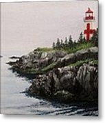 Head Harbour Lighthouse Metal Print by Jack Skinner