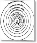 Heliocentric Universe, Copernicus, 1543 Metal Print by Science Source