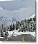 Highway 40 In Winter, Highwood Pass Metal Print by Darwin Wiggett