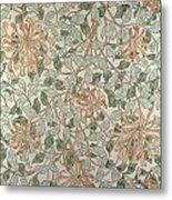 Honeysuckle Design Metal Print by William Morris