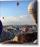Hot Air Balloons Over Cappadocia Metal Print by RicardMN Photography