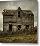House On The Hill Metal Print by Heather  Rivet