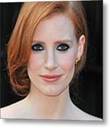Jessica Chastain At Arrivals For The Metal Print by Everett