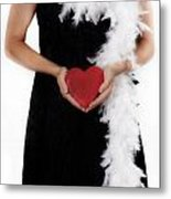 Lady With Heart Metal Print by Joana Kruse