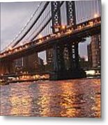 Manhattan Bridge Metal Print by Nina Mirhabibi