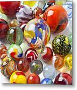 Many Beautiful Marbles Metal Print by Garry Gay